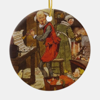 Vintage Fairy Tale Musical Baby Ceramic Ornament