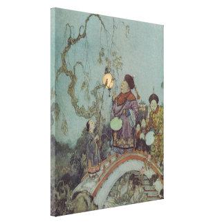 Vintage Fairy Tale, Nightingale by Edmund Dulac Canvas Print