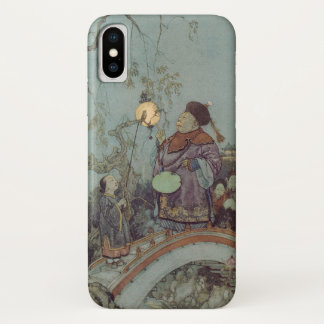 Vintage Fairy Tale, Nightingale by Edmund Dulac iPhone X Case