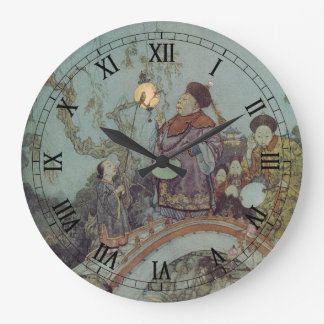 Vintage Fairy Tale, Nightingale by Edmund Dulac Large Clock