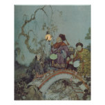 Vintage Fairy Tale, Nightingale by Edmund Dulac Poster
