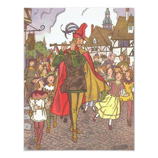 Vintage Fairy Tale Pied Piper Hamelin Invitation