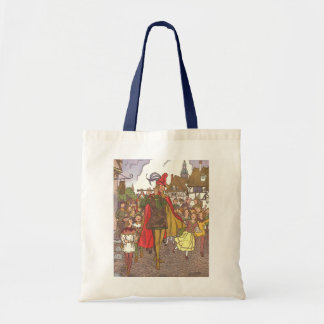 Vintage Fairy Tale Pied Piper of Hamelin by Hauman Tote Bags