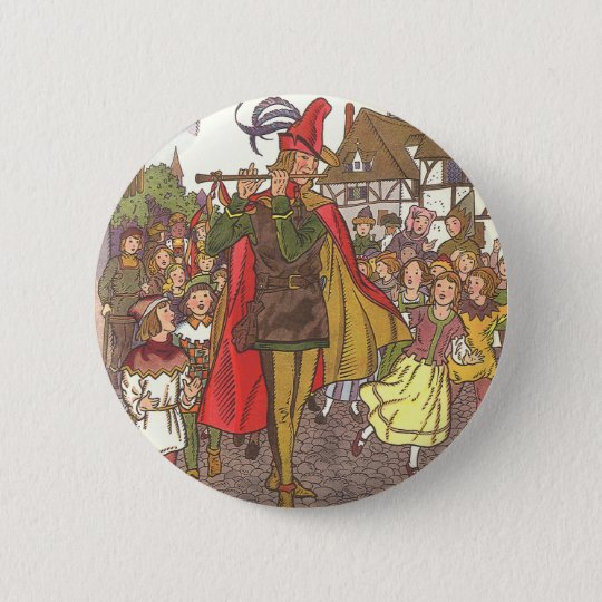Vintage Fairy Tale Pied Piper of Hamelin by Hauman Button