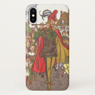 Vintage Fairy Tale Pied Piper of Hamelin by Hauman iPhone X Case