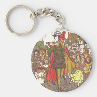 Vintage Fairy Tale Pied Piper of Hamelin by Hauman Keychain