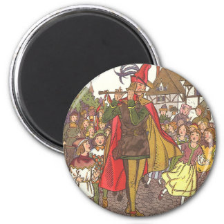 Vintage Fairy Tale Pied Piper of Hamelin by Hauman Magnet