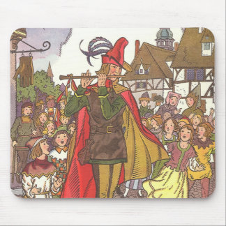 Vintage Fairy Tale Pied Piper of Hamelin by Hauman Mouse Pad