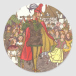 Vintage Fairy Tale Pied Piper of Hamelin by Hauman Classic Round Sticker