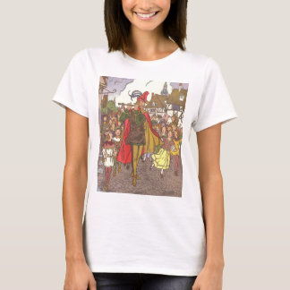 Vintage Fairy Tale Pied Piper of Hamelin by Hauman T-Shirt