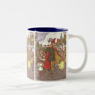 Vintage Fairy Tale Pied Piper of Hamelin by Hauman Two-Tone Coffee Mug