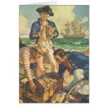 Vintage Fairy Tale Pirates, Treasure Island Cards