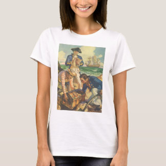 Vintage Fairy Tale Pirates, Treasure Island T-Shirt