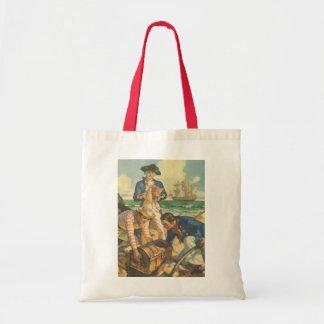 Vintage Fairy Tale Pirates, Treasure Island Tote Bag