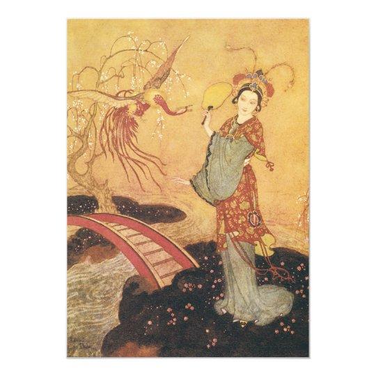 Vintage Fairy Tale Princess Badoura, Edmund Dulac Card