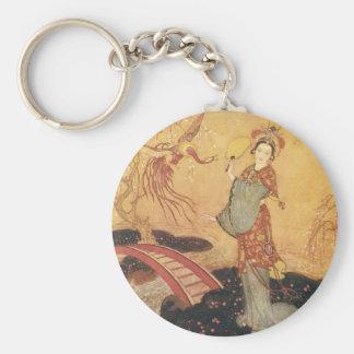 Vintage Fairy Tale Princess Badoura, Edmund Dulac Keychain
