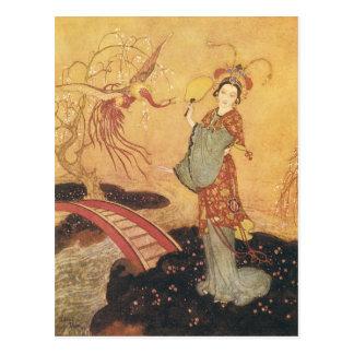 Vintage Fairy Tale Princess Badoura, Edmund Dulac Postcard