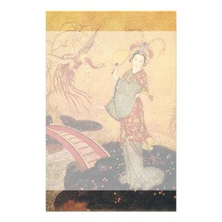 Vintage Fairy Tale Princess Badoura, Edmund Dulac Stationery