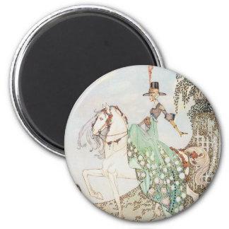 Vintage Fairy Tale, Princess Minette, Kay Nielsen 2 Inch Round Magnet