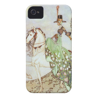 Vintage Fairy Tale Princess Riding a White Horse iPhone 4 Case