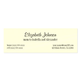 Vintage Fairy Tale, Rapunzel with Long Blonde Hair Business Card Template