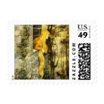 Vintage Fairy Tale, Rapunzel with Long Blonde Hair Postage Stamp