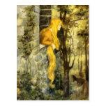 Vintage Fairy Tale, Rapunzel with Long Blonde Hair Postcard