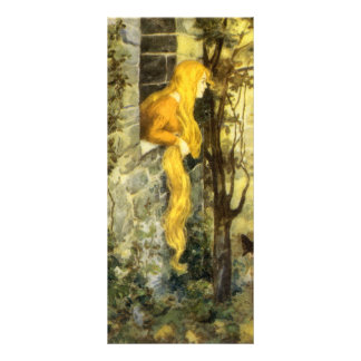 Vintage Fairy Tale, Rapunzel with Long Blonde Hair Personalized Rack Card