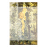 Vintage Fairy Tale, Rapunzel with Long Blonde Hair Personalized Stationery