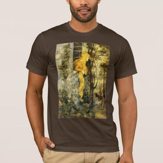 Vintage Fairy Tale, Rapunzel with Long Blonde Hair T-Shirt