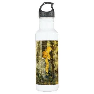 Vintage Fairy Tale, Rapunzel with Long Blonde Hair Water Bottle