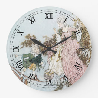 Vintage Fairy Tale Sleeping Beauty by Edmund Dulac Wall Clock