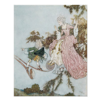 Vintage Fairy Tale Sleeping Beauty by Edmund Dulac Poster