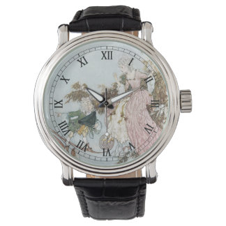 Vintage Fairy Tale Sleeping Beauty by Edmund Dulac Wristwatch