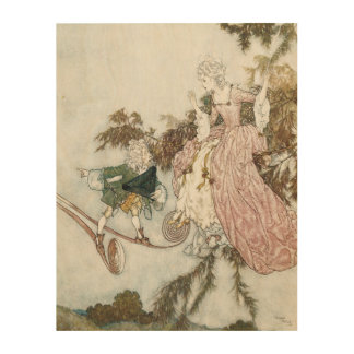 Vintage Fairy Tale Sleeping Beauty by Edmund Dulac Wood Prints