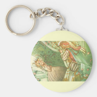 Vintage Fairy Tale, Sleeping Beauty Princess Keychain