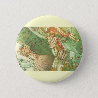 Vintage Fairy Tale, Sleeping Beauty Princess Pinback Button