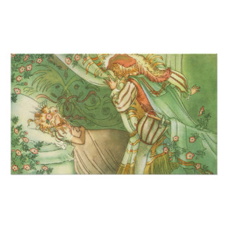 Vintage Fairy Tale, Sleeping Beauty Princess Poster
