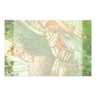 Vintage Fairy Tale, Sleeping Beauty Princess Personalized Stationery