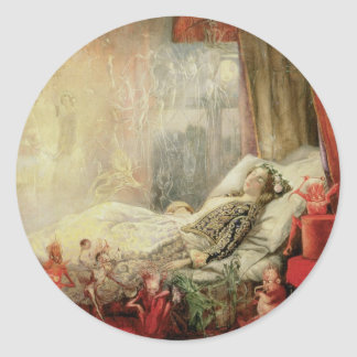 Vintage Fairy Tale, Stuff that Dreams Are Made of Classic Round Sticker