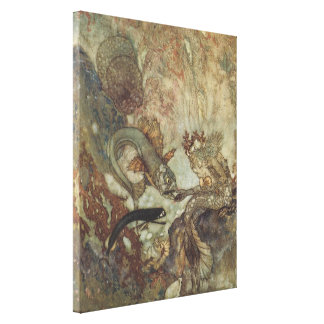 Vintage Fairy Tale, The Mermaid by Edmund Dulac Canvas Print