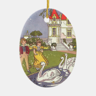 Vintage Fairy Tale, The Ugly Duckling by Hauman Ceramic Ornament