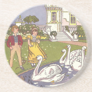 Vintage Fairy Tale, The Ugly Duckling by Hauman Beverage Coasters