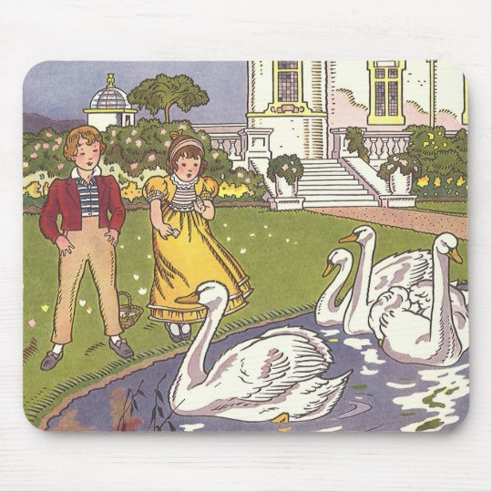 Vintage Fairy Tale, The Ugly Duckling by Hauman Mouse Pad