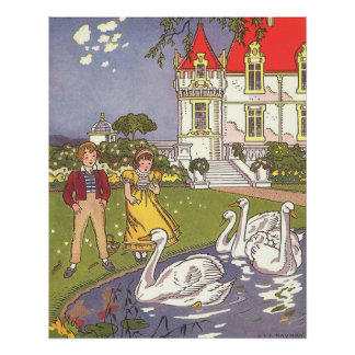 Vintage Fairy Tale, The Ugly Duckling by Hauman Poster