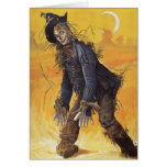 Vintage Fairy Tale, the Wizard of Oz Scarecrow Greeting Card