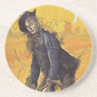 Vintage Fairy Tale, the Wizard of Oz Scarecrow Drink Coaster