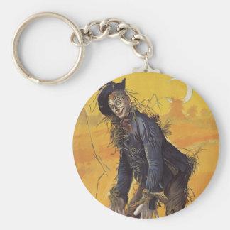 Vintage Fairy Tale, the Wizard of Oz Scarecrow Basic Round Button Keychain