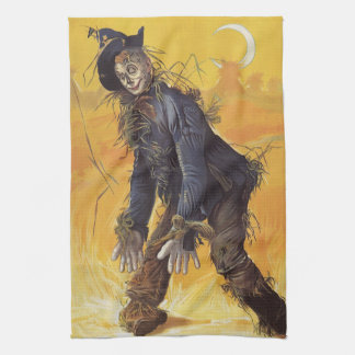 Vintage Fairy Tale, the Wizard of Oz Scarecrow Kitchen Towel