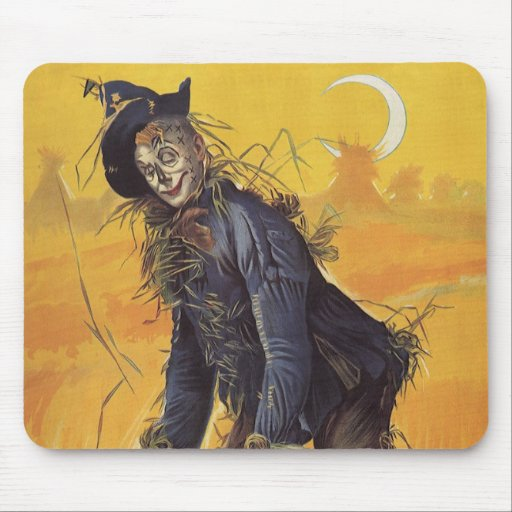 Vintage Fairy Tale, the Wizard of Oz Scarecrow Mouse Pad